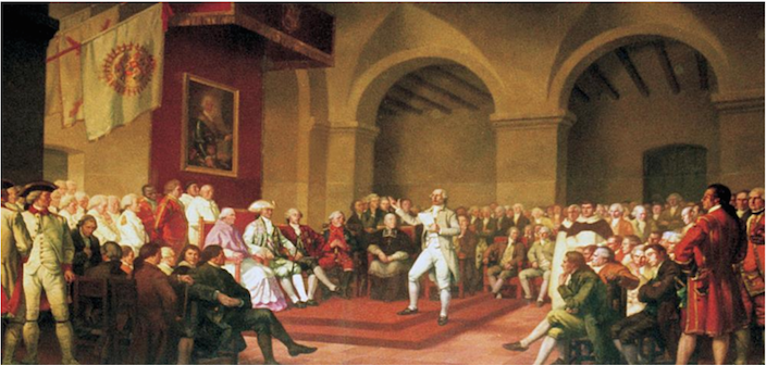 Inauguration of the Tribunal of the Protomedicato in Buenes Aires, 1780, Michael O' Gorman in the centre